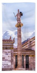 Bath Towel featuring the photograph Greek God by Linda Constant