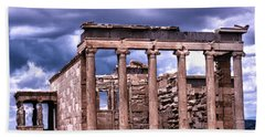 Bath Towel featuring the photograph Greek Temple by Linda Constant