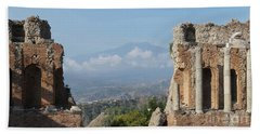 Greek Theatre Taormina Hand Towel