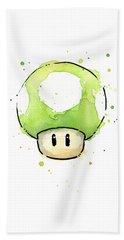 Green 1up Mushroom Hand Towel