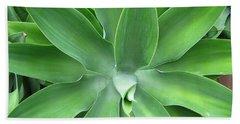 Green Agave Leaves Bath Towel
