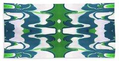 Green And Blue Swirl- Art By Linda Woods Hand Towel