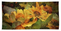 Green And Gold 1068 Idp_2 Hand Towel