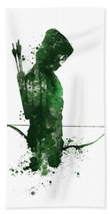 Green Arrow Hand Towel