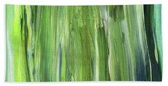 Green Blue Organic Abstract Art For Interior Decor Iv Hand Towel