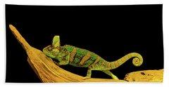 Green Chameleon Hand Towel