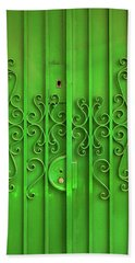 Hand Towel featuring the photograph Green Door by Carlos Caetano