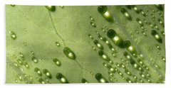 Green Drops Bath Towel by Raffaella Lunelli