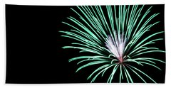 Green Explosion Bath Towel by Suzanne Luft