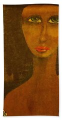 Green Eyes Hand Towel