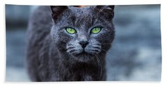 Green Eyes Bath Towel