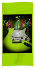 Green Stratocaster Guitar Hand Towel
