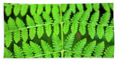 Green Fern Bath Towel