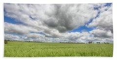 Green Fields 2 Bath Towel by Douglas Barnard