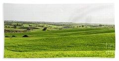 Green Fields. Hand Towel by Arik Baltinester