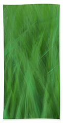 Green Fire 8 Bath Towel