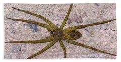 Green Fishing Spider Hand Towel