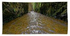 Bath Towel featuring the photograph Green Flow by Jonathan Davison