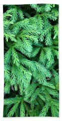 Green Foliage Hand Towel