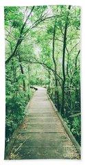 Green Forest Bath Towel