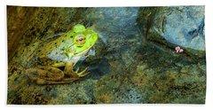 Green Frog Hand Towel