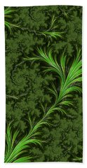 Green Fronds Hand Towel by Rajiv Chopra