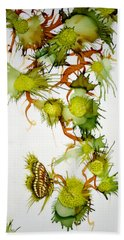 Green Fruit And Butterfly Bath Towel