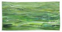 Green Gray Organic Abstract Art For Interior Decor I Hand Towel