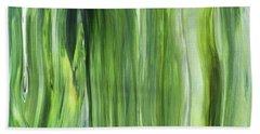 Green Gray Organic Abstract Art For Interior Decor IIi Hand Towel