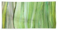 Green Gray Organic Abstract Art For Interior Decor Vi Hand Towel