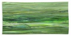 Green Gray Organic Abstract Art For Interior Decor Vii Hand Towel