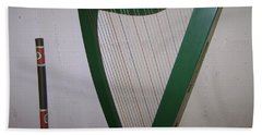 Green Harp Hand Towel