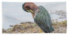 Green Heron 1337 Hand Towel