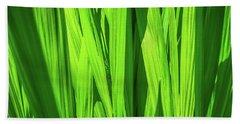 Green Leaf Hand Towel by Henri Irizarri