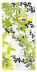 Green Leaf Spring Bath Towel by Saundra Myles