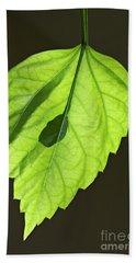 Green Hibiscus Leaf Bath Towel