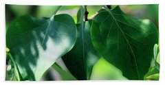 Green Leaves 2 Hand Towel