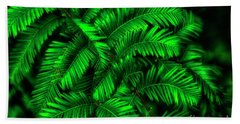Green Leaves Bath Towel