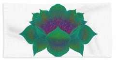 Hand Towel featuring the digital art Green Lotus by Elizabeth Lock