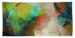 Blue Green Hand Towel by Suzzanna Frank