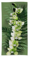 Green Orchid Hand Towel