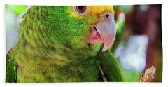 Green Parrot Hand Towel
