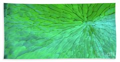 Bath Towel featuring the photograph Green Pattern Under The Microscope by Beauty of Science