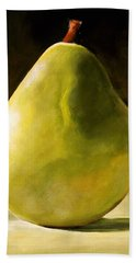 Green Pear Bath Towel