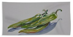 Green Peppers Hand Towel
