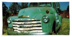 Green Pickup Truck 1959 Bath Towel
