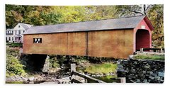 Green River Covered Bridge - Vermont Hand Towel by Joseph Hendrix