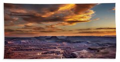 Green River Overlook At Sunset Bath Towel