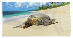 Green Sea Turtle Hawaii Bath Towel