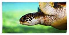 Green Sea Turtle Hand Towel by Marilyn Hunt